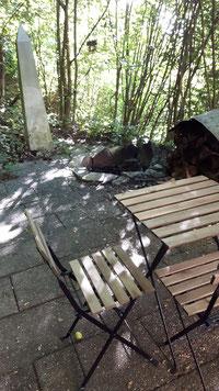 Im Garten der Unterkunft in Schwäbisch Hall