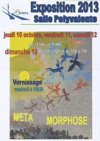 """Biv'actus 2013 : exposition peintures, sculptures, installations, marqueterie à Biviers - thème """"métamorphose"""""""