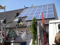 5,31 kWp, REC Module mit Kostal Wechselrichter, Gestell von Schletter