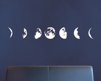 Phases of the Moon, wall art stickers