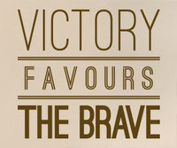 Victory Favours The Brave sticker