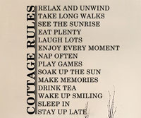 Cottages Rules wall art