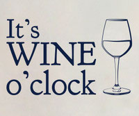 It's Wine O'Clock wall art sticker
