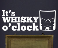 It's Whisky O'Clock wall art