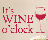 It's Red Wine O'Clock wall art sticker