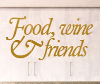 Food, wine and friends