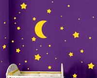 Stars and Moon vinyl stickers