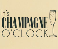 It's Champagne O'Clock wall art