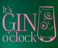 It's Gin O'Clock sticker