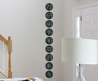 Circle Inch Height Chart wall sticker
