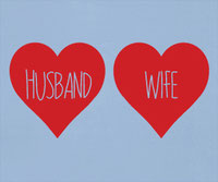 Husband & Wife Love Hearts vinyl decals