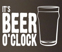 It's Beer O'Clock decal sticker