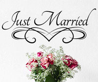 Just Married wall art sticker