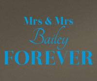 Personalised Mrs & Mrs Forever