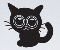 Cute Cat vinyl sticker