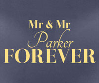 Personalised Mr & Mr Forever sticker