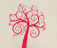Curly Tree Vinyl decal