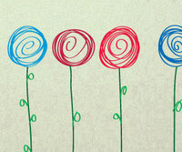Swirly Flower, decals
