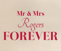 Personalised Mr & Mrs Forever wall art sticker