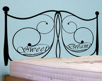 Sweet Dreams Headboard, vinyl wall art sticker