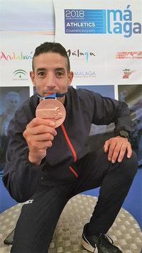 Rachid Farid avec sa médaille de Bronze.