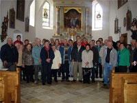 Die Mitglieder des AC Seniorenkreises aus Ast pilgerten zur Wallfahrtskirche auf den Lamberg.