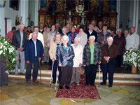"""Die Mitglieder des AC-Seniorenkreises in der Wallfahrtskirche auf dem Eichelberg """"Zur Heiligsten Dreifaltigkeit"""""""