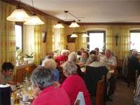 Die Senioren genossen die geselligen Stunden beim Kirchenwirt.