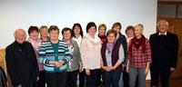 Die neue Vorstandschaft des KDFB Ast mit Vorsitzender Christina Wutz.