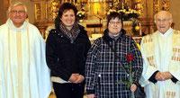 """Zum """"Einstand"""" bekam Anna Ruhland eine rote Rose. Foto: Höcherl"""
