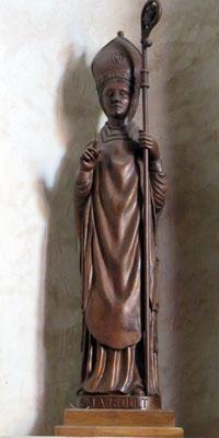 Saint Evroult Statue en l'Eglise de Saint Evroult à Agon Coutainville Manche