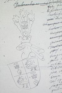 Coat of arms De Graeff, 1677