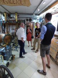 Erläuterungen im Brauereimuseum, Foto: Anita Korndörfer