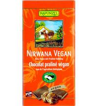 Vegane Reismilch-Schokolade mit Praliné - Füllung von Rapunzel