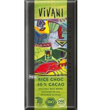 Vegane Reismilch-Schokolade von Vivani