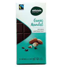 Vegane Schokolade ganze Mandeln von Naturata