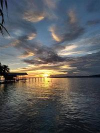 Sunset at Kri Island in the amazing Raja Ampat archipelago