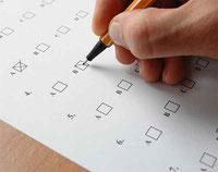 Griglia di correzione di un test
