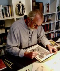 Frank Zeidler, dessins, illustrateur, dessins à l'encre, artiste cote d'azur, Biot, Grasse, Valbonne, illustration , cadeau art pas cher, oeuvre originale pas cher