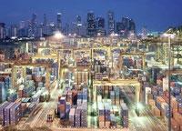 Engere Märkte - veränderte Rangfolgen: weltgrößter Containerhafen Singapur