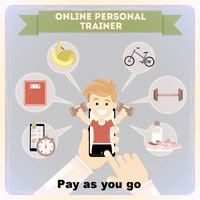 "Virtual Personal Trainer ""pay as you go"" service"