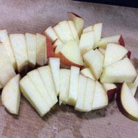りんごいちょう切り