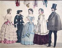 Allgemeine Modenzeitung, Nr. 6, 1850 (?). picture taken by Nina Möller  - Victorian fashion era