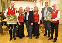 Hermann Töglhofer, Barbara Kniepeiß, Siegfried Tropper (Ehrenobmann), Birgit Tantscher, Martin Kornsteiner (Bzk.Ob. Stv.), Otto Maxa)