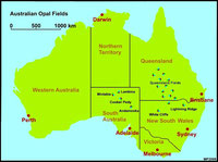 Opale Abbaugebiete Australien