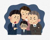 会社内でのいじめ・パワハラのイラスト