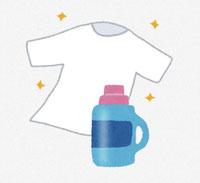 洗濯物と漂白剤 イラスト