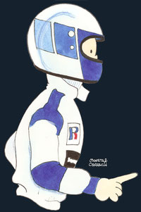 Helmet of David Brabham by Muneta & Cerracín