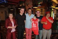 v.l.n.r.: Sonja Bender, Jorge Oliveira, Filipe Castelo, Hubsi Ronschke und Armando Cortes