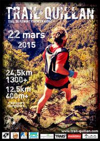 Affiche Trail Quillan 2015